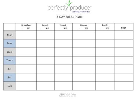 search results for blank weekly meal plan template