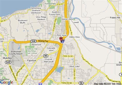 seattle map everett map of extended stay america seattle everett everett