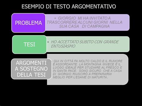 testo espositivo esempio il testo argomentativo ppt scaricare