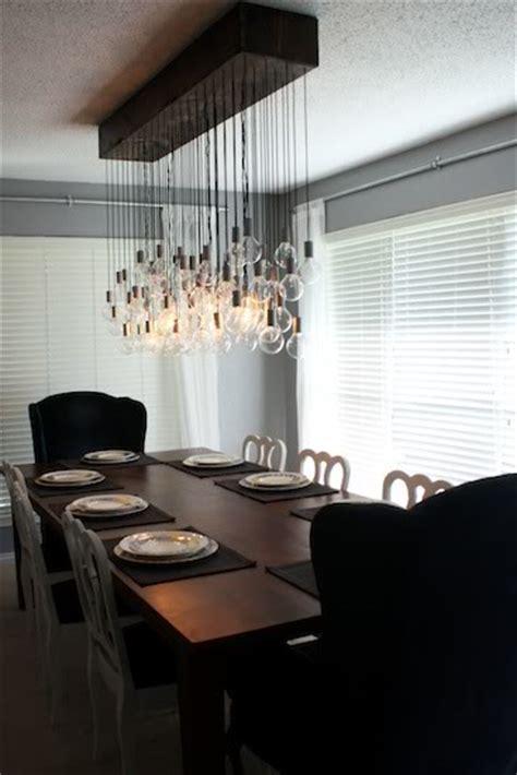 Dining Room Light Fixtures Diy Diy Chandelier S Big Idea