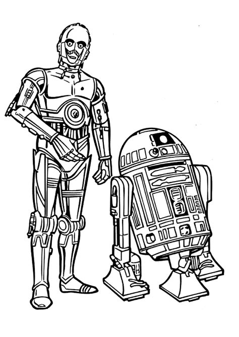 free coloring pages wars characters wars line clipart best