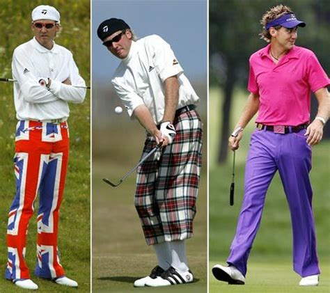 outspoken golfer ian poulter lets his gold lam 233 shirt do
