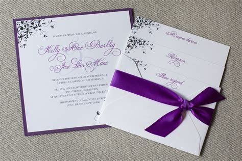 Purple Wedding Invitations by Square Wedding Invitations Purple Wedding Invitations