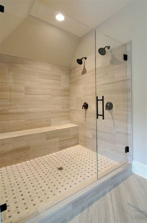 porcelain tile for bathroom shower contemporary 3 4 bathroom with standard height shower