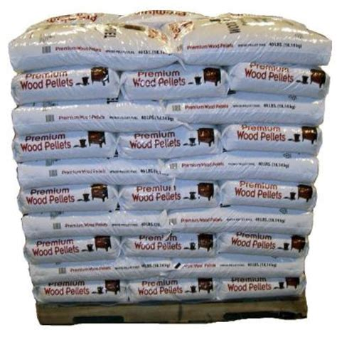 premium wood pellets pellet fuel 40 lb 50 pack 1ton