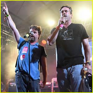 song lyrics tattoo zach galifianakis watch jon hamm zach galifianakis sing we are the world