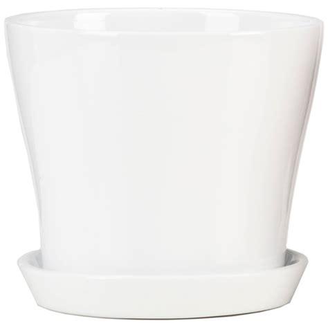 ceramic planter with saucer scheurich ceramic planter pot and saucer 6 quot white