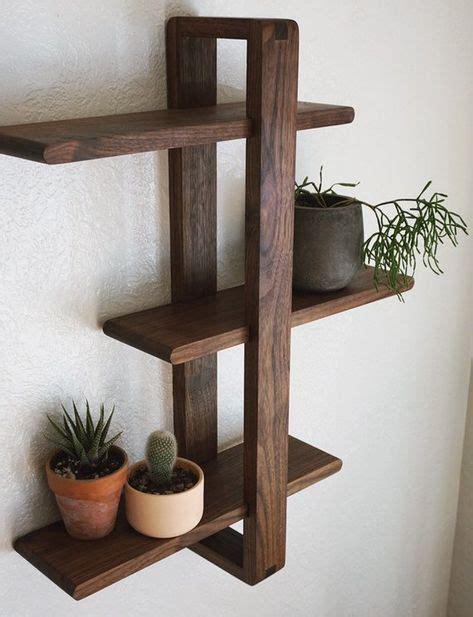 shift shelf modern wall shelf solid walnut  hanging