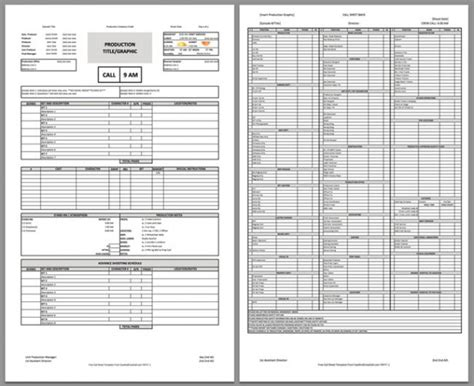 download a free call sheet template to get your film crew
