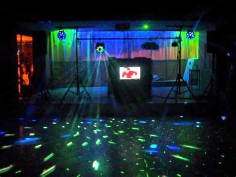 set lights to dj light set up