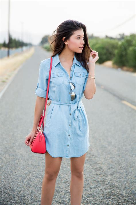how would a wear how to wear a chambray shirtdress