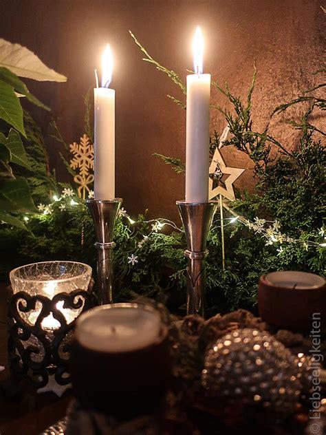 kerzen und kerzenst nder weihnachtsdeko liebseeligkeiten