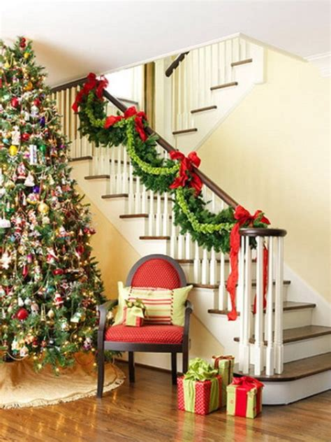 christmas decorating ideas for banisters 100 awesome christmas stairs decoration ideas digsdigs