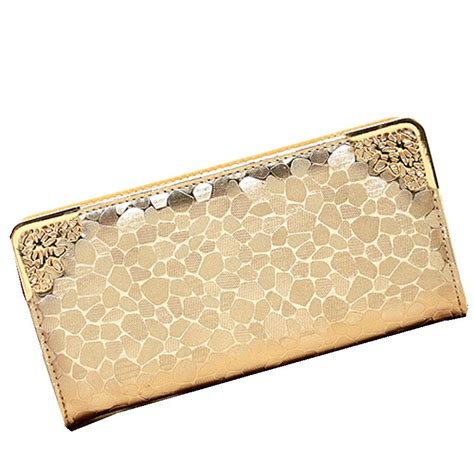 Walet Premium Gold Walet Gold 2014 new style brand wallet purse grain gold silver black color pu leather