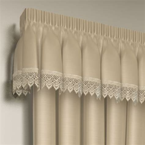 ready made curtains with valance pelmet lined lace embroidered pelmet valance tony s textiles