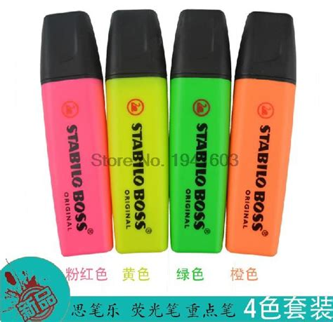 Stabilo 4 All Inner Box Blue 1 set 4 colors stabilo highlighters non toxic 4 colors