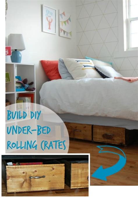 remodelaholic build your own rolling under bed storage crates
