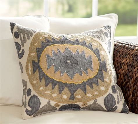 pottery barn bed pillows nadia ikat pillow cover pottery barn