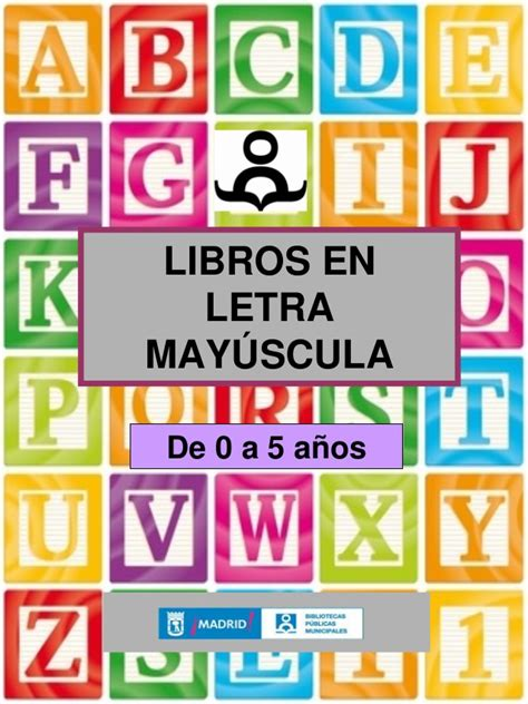 libro letras mayusculas capital libros en may 218 sculas para ni 209 s de 0 a 5 a 209 os