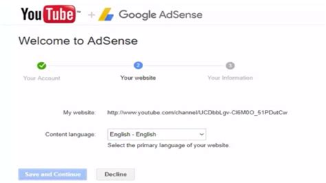 adsense youtube sign up how to set up monetization and a google adsense account