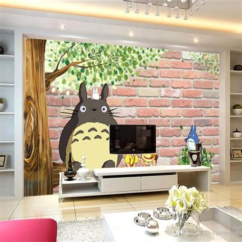 japanese bedroom wallpaper 3d japanese anime photo wallpaper lovely totoro wallpaper custom large mural cartoon