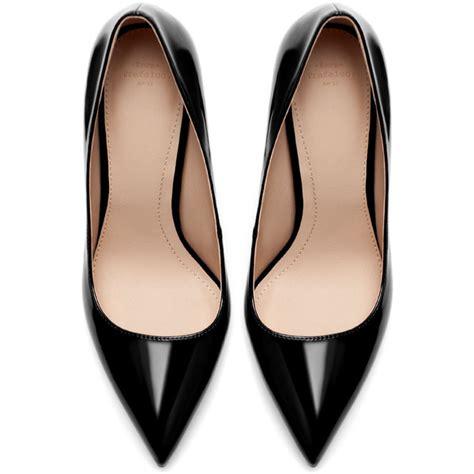 High Heels Zara Dututu zara synthetic patent leather high heel court shoe polyvore