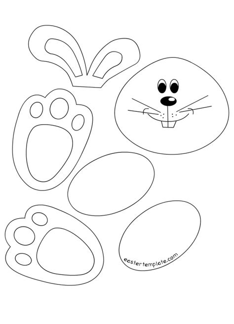 craft templates easter bunny cut out pictures related images easter bunny