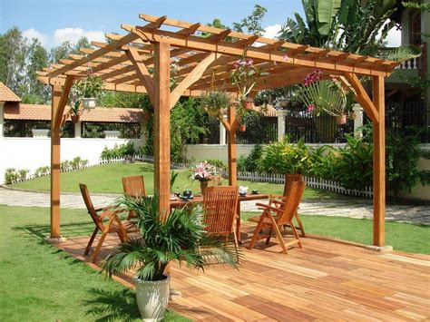 Outstanding Wooden Pergola Design For Your Backyard Wood Patio Designs