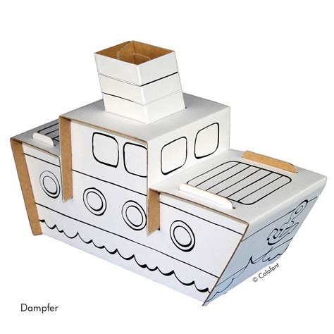 aus karton basteln spielzeuge aus karton zum anmalen und spielen zambomba