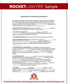 Independent Contractor Agreement Freelance Contract Template Independent Contractor Handbook Template