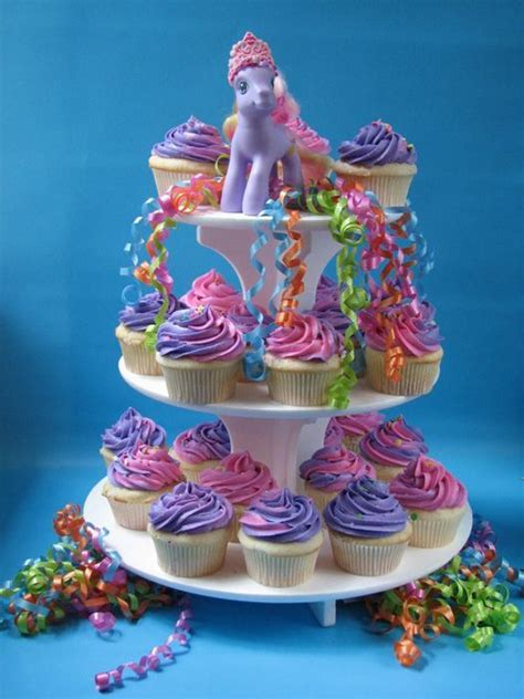 Cupcake Stand Pony Cupcake Tier My Pony Cilukba simple two tone pony style pony cupcakes on stand birthdays pony style pony and