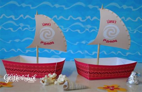moana boat snack moana polynesian boat food snack trays and sail toppers for