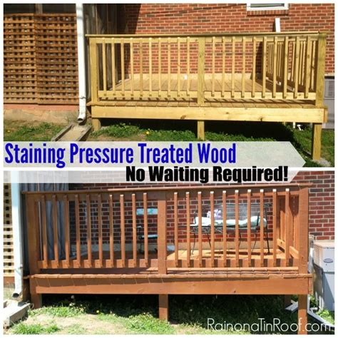 staining pressure treated wood   stain treated wood