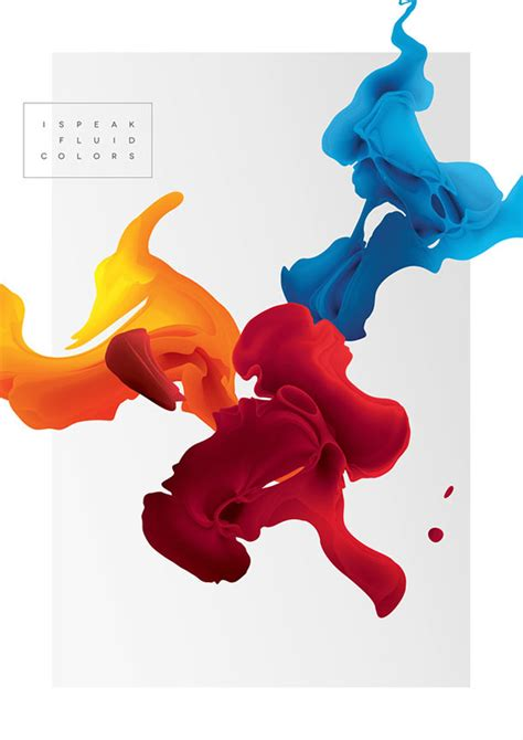 speak fluid colors digital art project  maria gronlund