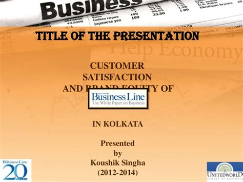 Mba In Calcutta 2014 by Project On Business Line