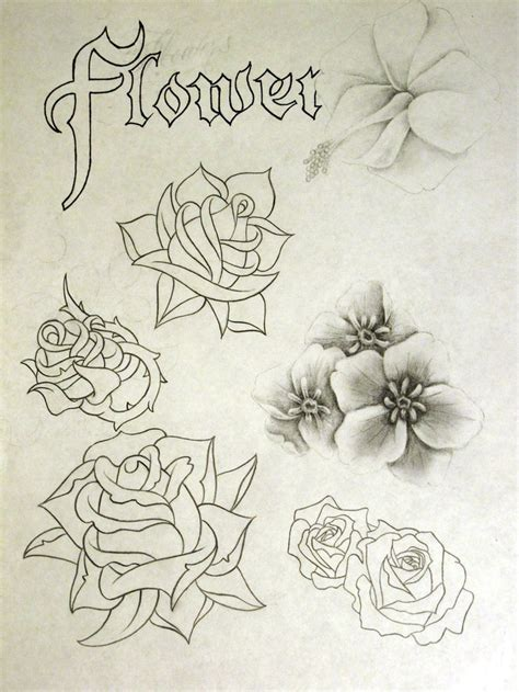 flower tattoo flash 250 best images about school roses on