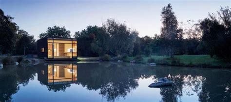 friday develops modular floating house for weekend getaways modular floating weekend house by friday