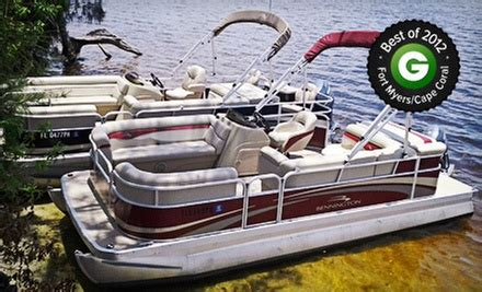 full day pontoon rental oasis yacht club and boat - Cape Coral Boat Rental Groupon