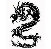 Impressive Tribal Dragon Tattoo Design Idea