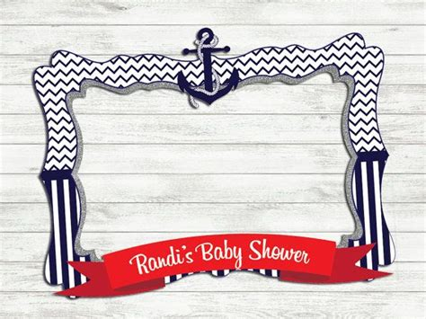themed photo frames nautical baby shower photo frame photo booth prop baby