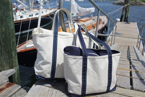 canvas boat and tote bags salt water new england canvas boat bags and the l l bean