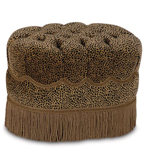 oval tufted ottoman luxury bedding by eastern accents togo coin oval tufted