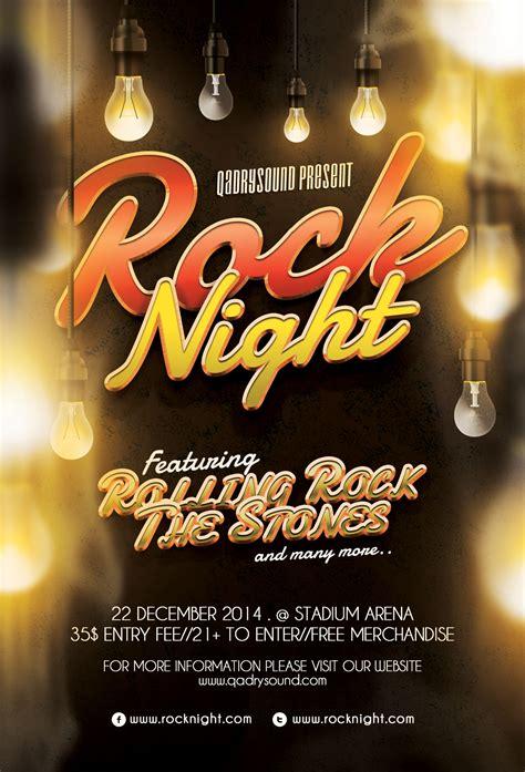 free rock night flyer template by fidz q on deviantart