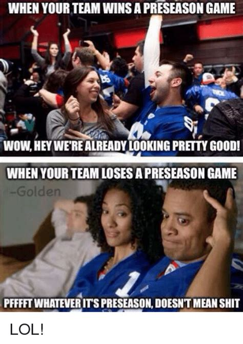 When Wins when your team wins a preseason wowhey
