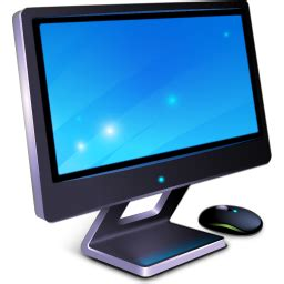 wallpaper laptop png monitor icon 3d bluefx desktop iconset wallpaperfx