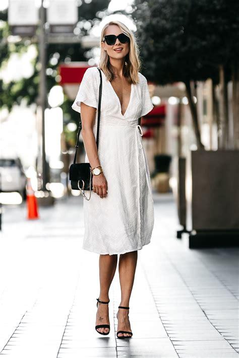 Dress Model White Style Fashion Impor 3 a feminine white wrap dress fashion jackson