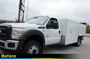 holes incorporated ford f 550 utility bed truck wraps