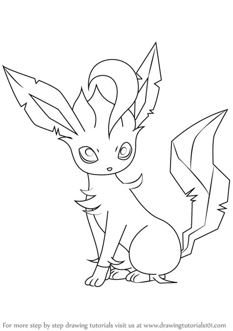 pokemon coloring pages of leafeon pokemon leafeon drawings images pokemon images