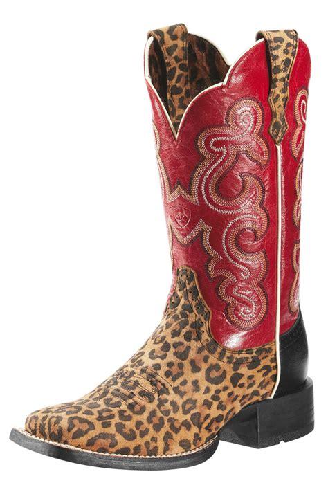 Cheetah Boots ariat leopard print cowboy boots 187 horses heels