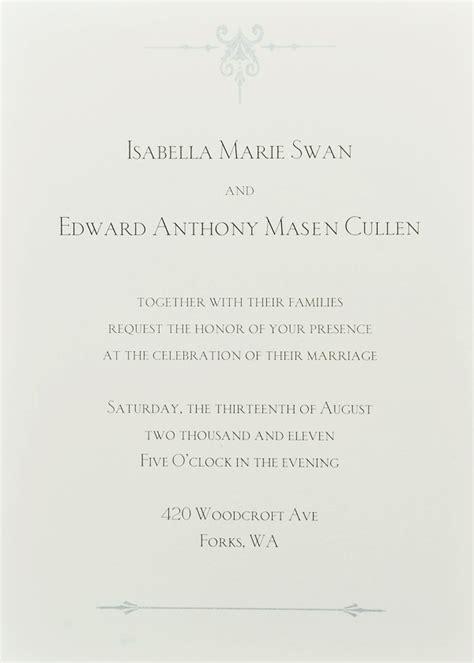 twilight wedding invitation desu you are cordially invited